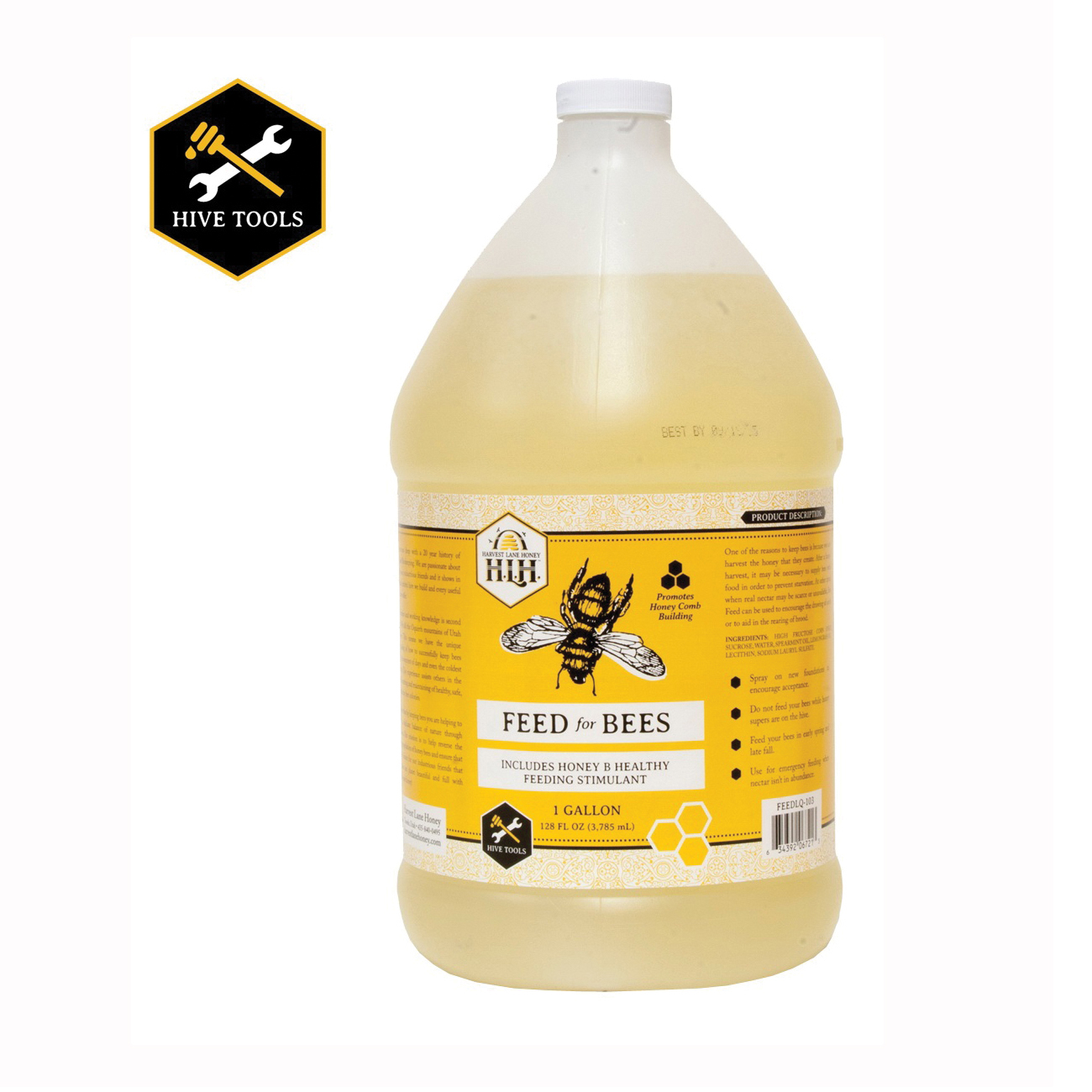 Picture of HARVEST LANE HONEY FEEDLQ-103 Liquid Bee Feed with Essential Oil, 1 gal Capacity