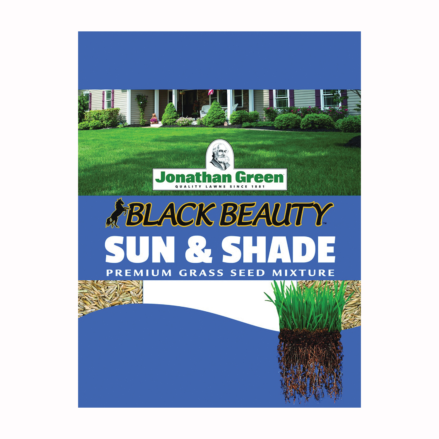Picture of Jonathan Green Black Beauty 12001 Grass Seed, 1 lb Package, Bag