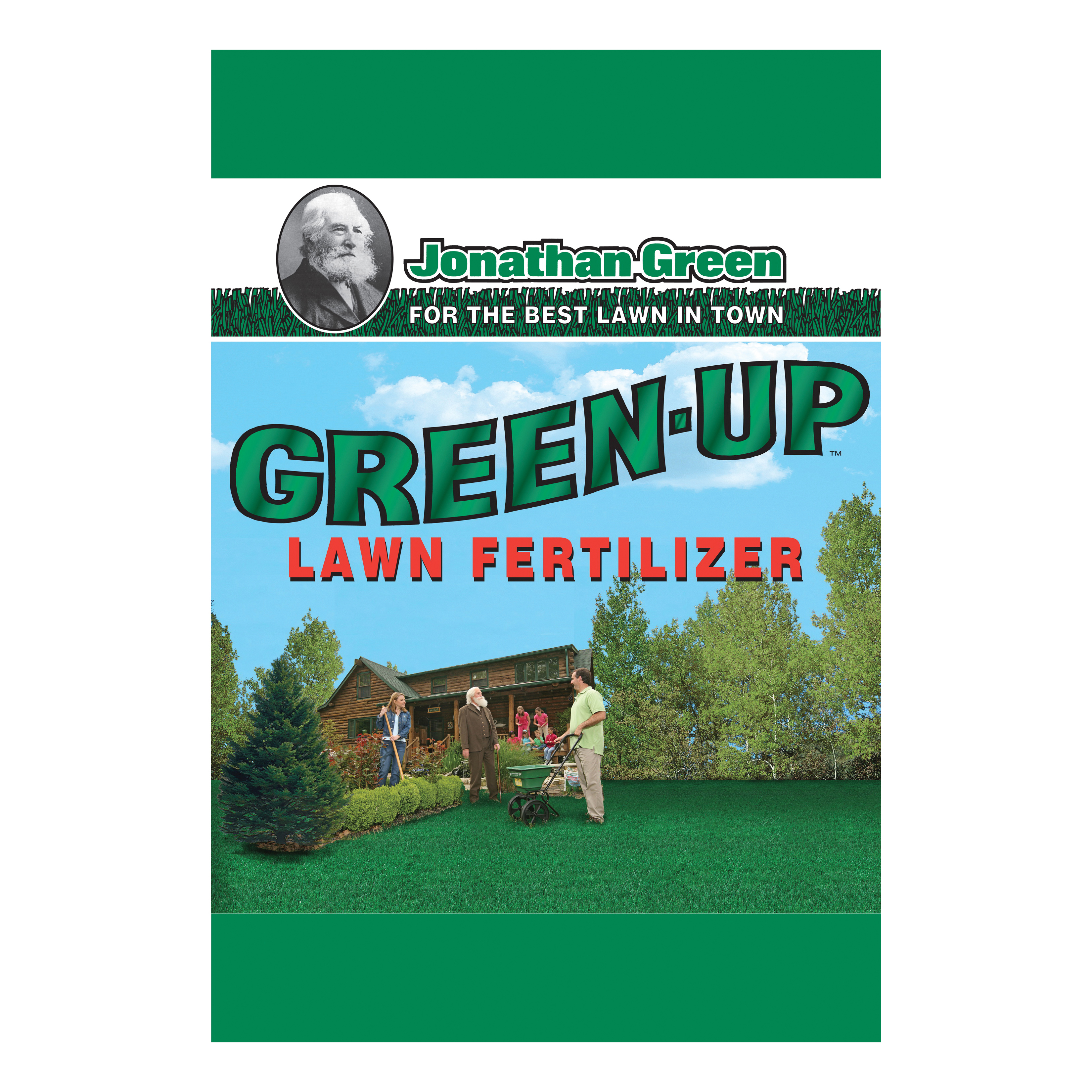 Picture of Jonathan Green Green-Up 11988 Lawn Fertilizer, Granular, Green, 15 lb Package, Bag