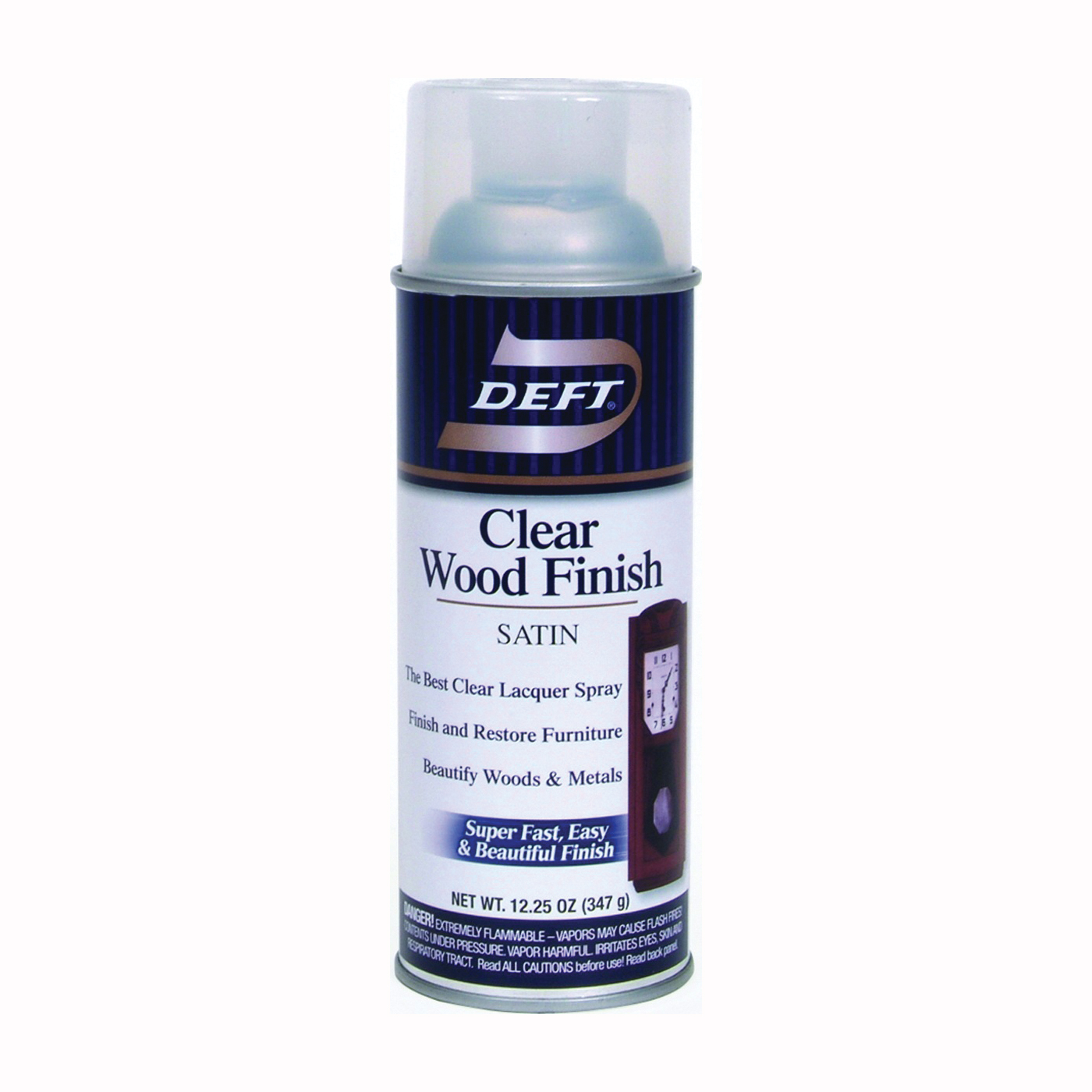 Picture of DEFT 017-13 Brushing Lacquer, Liquid, Clear, 12 oz, Aerosol Can