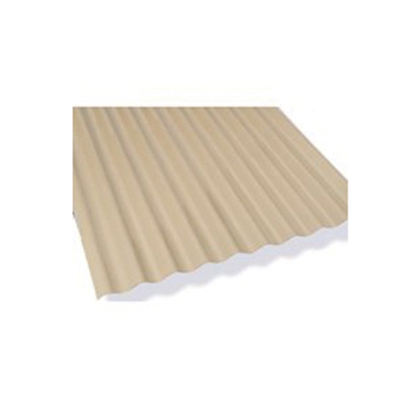 Picture of Sun N Rain 106619 Corrugated Roofing Panel, 8 ft L, 26 in W, Fiber Cement, Beige