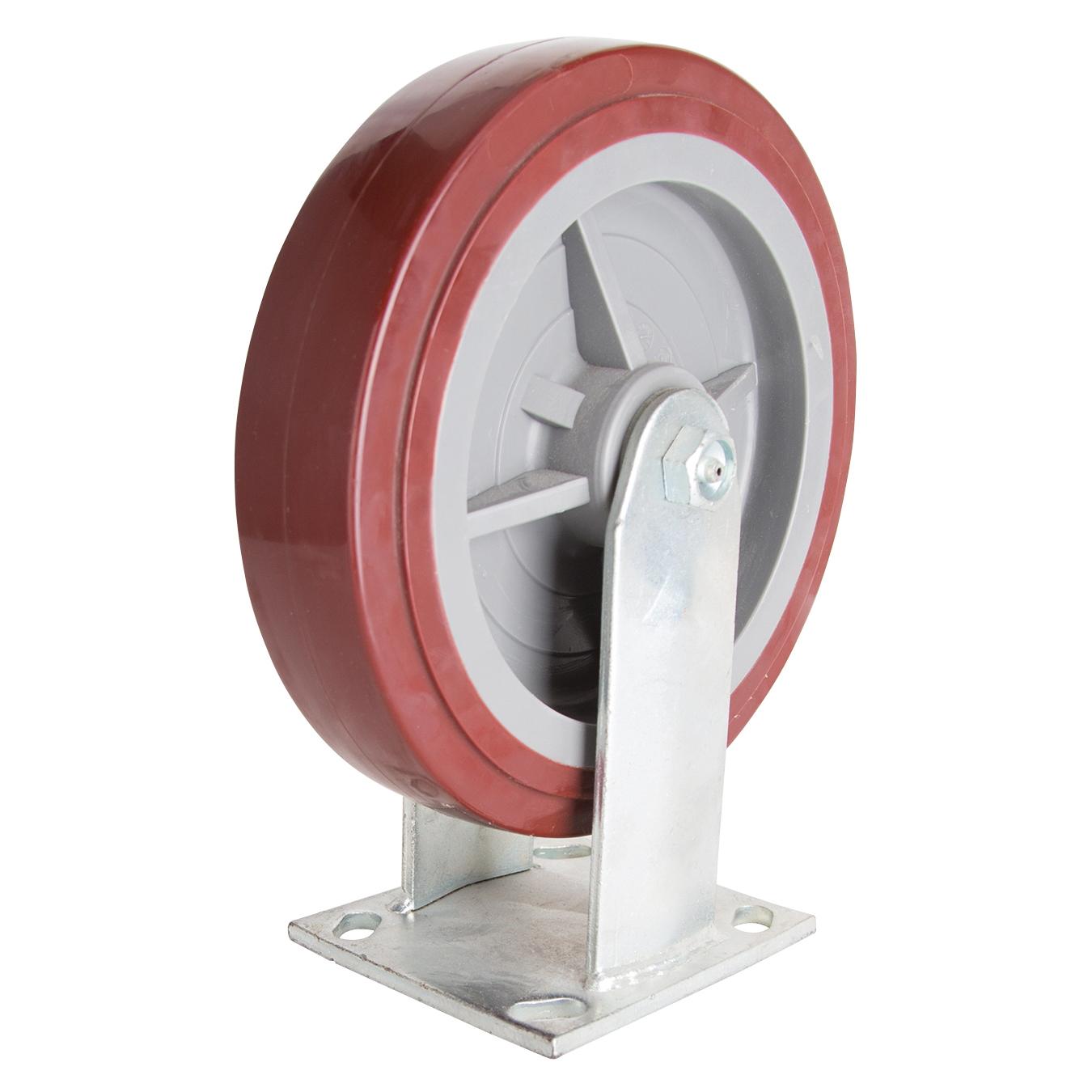 Picture of ProSource JC-P07 Rigid Caster, 8 in Dia Wheel, 2 in W Wheel, Polyurethane Wheel, 750 lb