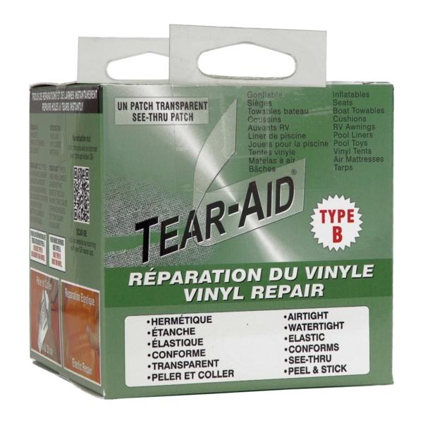 Picture of TEAR-AID D-KIT-B02-100 Vinyl Seat Repair Kit, B, Clear