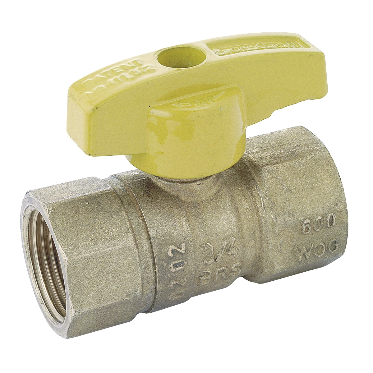 Picture of BrassCraft PSBV503-12 Gas Ball Valve, 3/4 in Connection, Flared, 5 psi Pressure, Brass Body