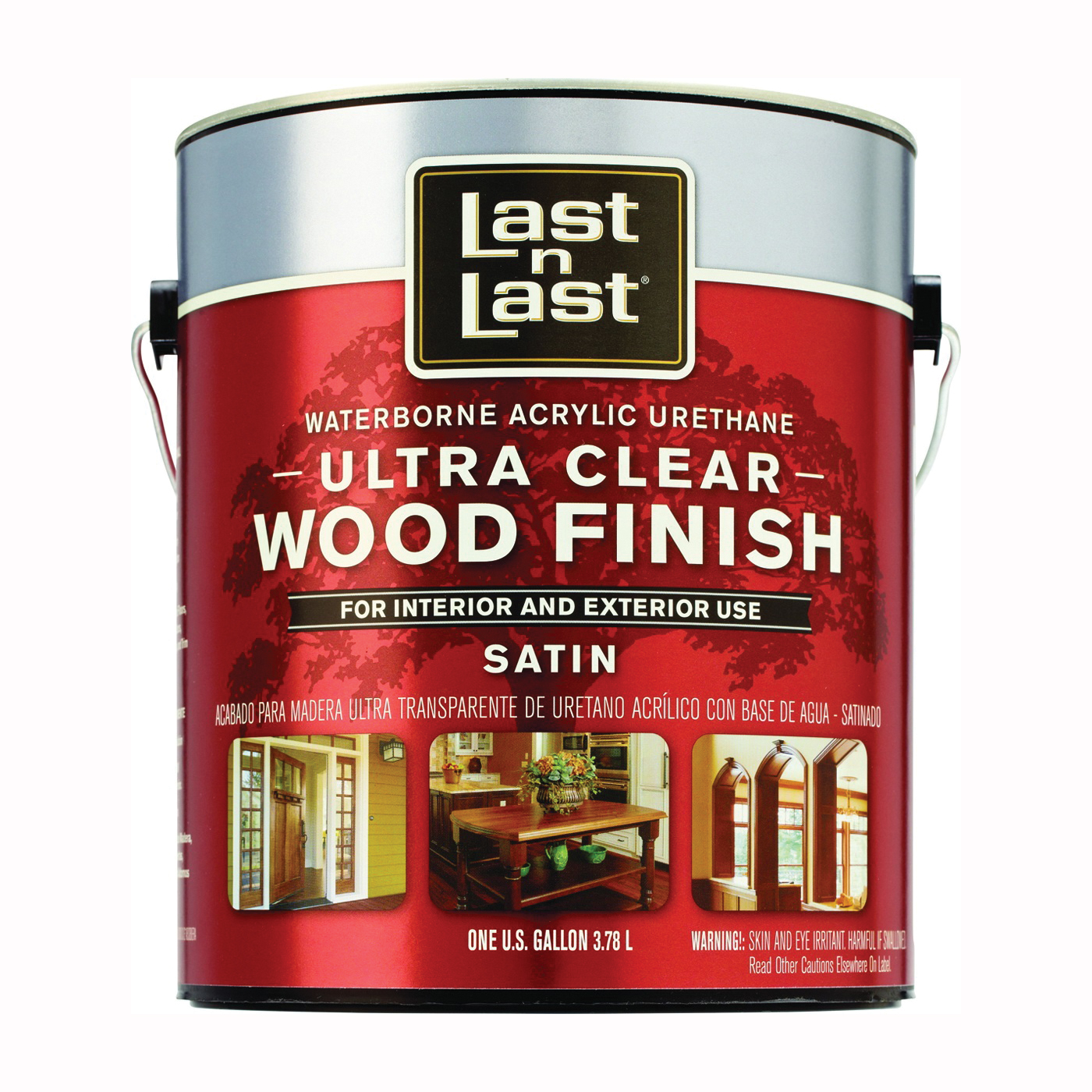 Picture of Last n Last 13101 Ultra Clear Wood Finish, Liquid, Clear, 1 gal, Can