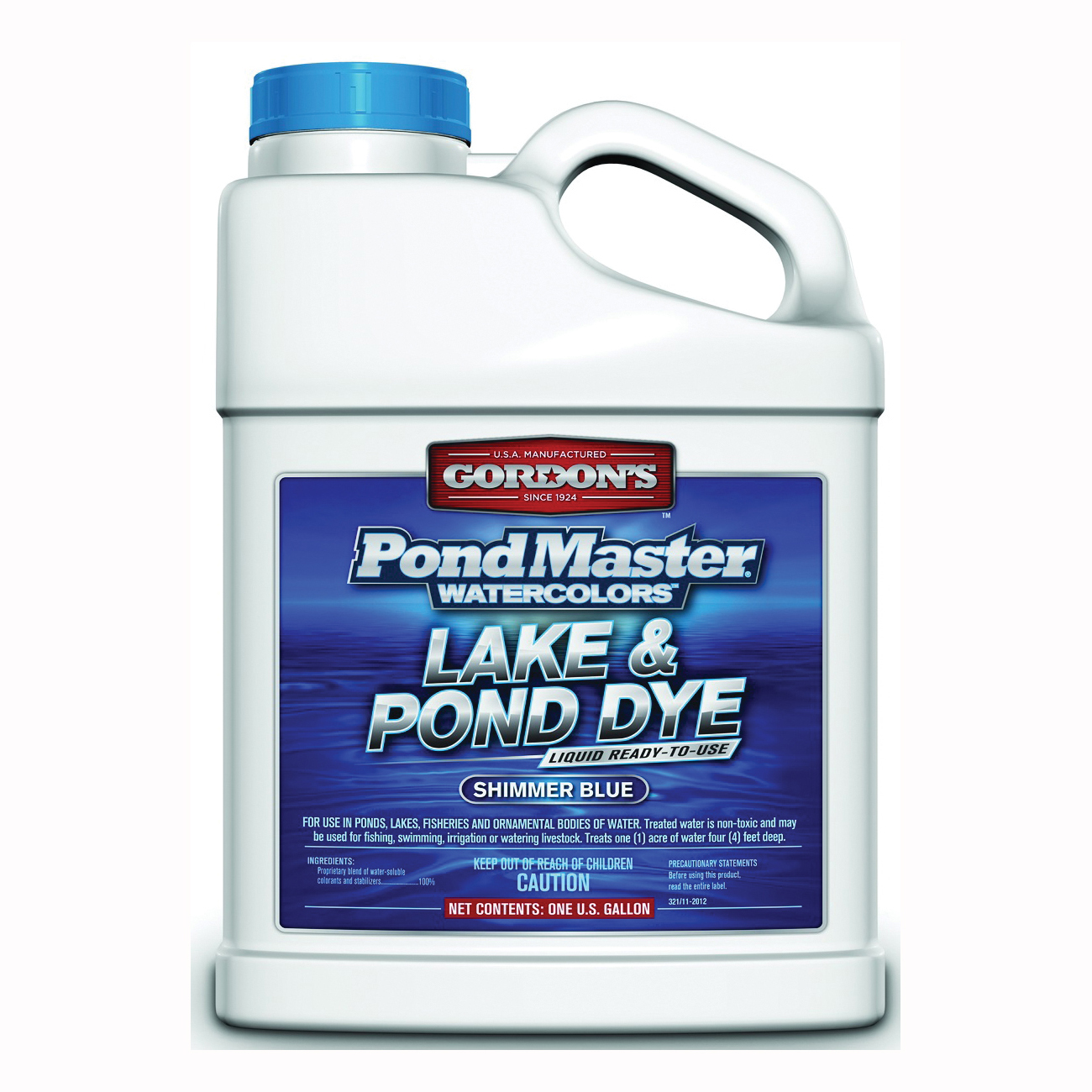 Picture of Gordon's PondMaster 3211072 Lake and Pond Dye, Liquid, Dark Blue, 1 gal Package