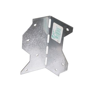 Picture of MiTek MP9-TZ Framing Angle, 2-1/4 in W, 2-1/4 in D, 6-7/8 in H, Steel, Zinc