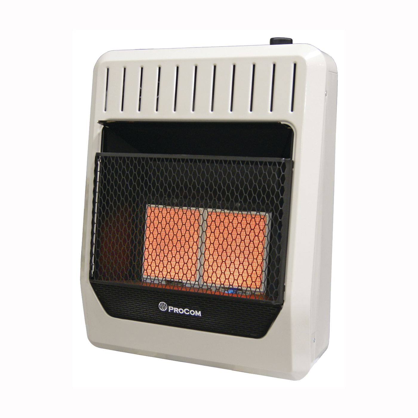 Picture of PROCOM HEATING MG2TIR Ventless Dual Fuel Heater, 18.46 in W, 24.1 in H, 18,000 to 20,000 Btu Heating