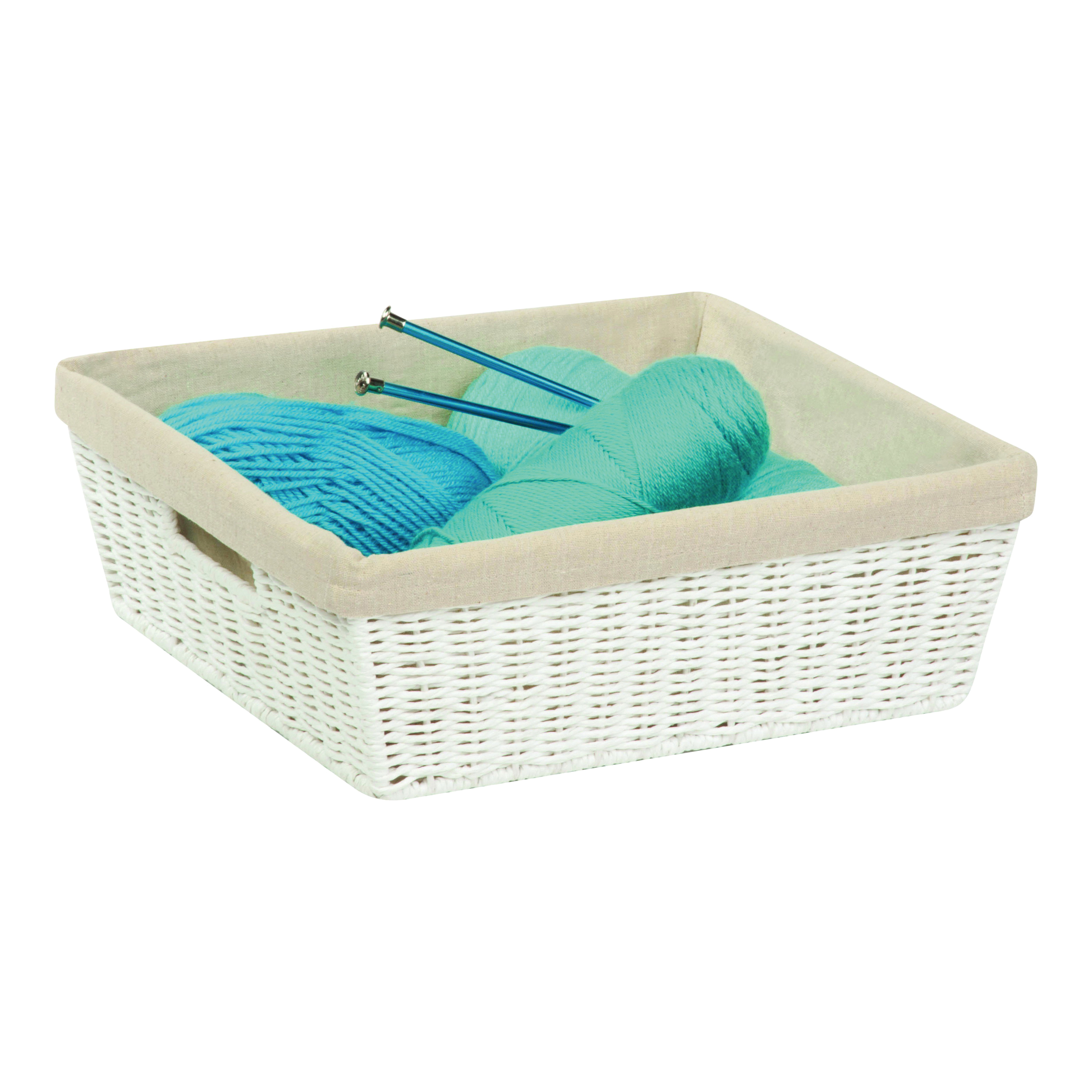 Picture of Honey-Can-Do STO-03559 Storage Basket, Paper, White