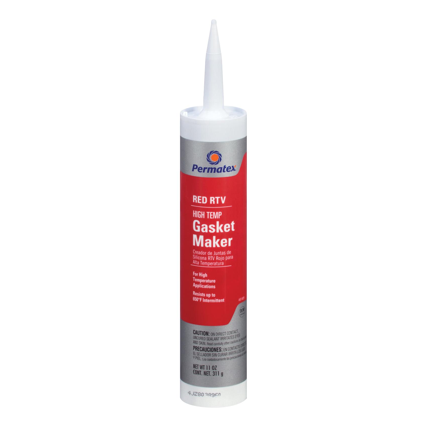 Picture of Permatex 81409 Gasket Maker, 11 oz Package, Paste, Acetic Acid