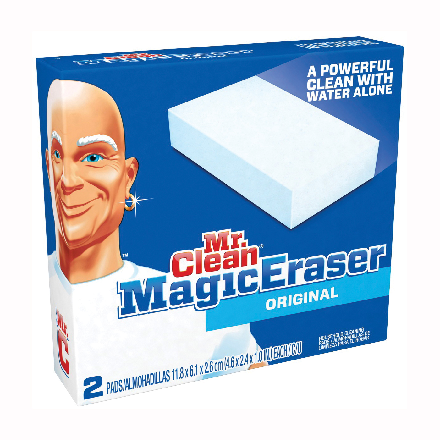Picture of MR CLEAN 43515 Magic Eraser, 4.6 in L, 2.6 in W, 1 in Thick