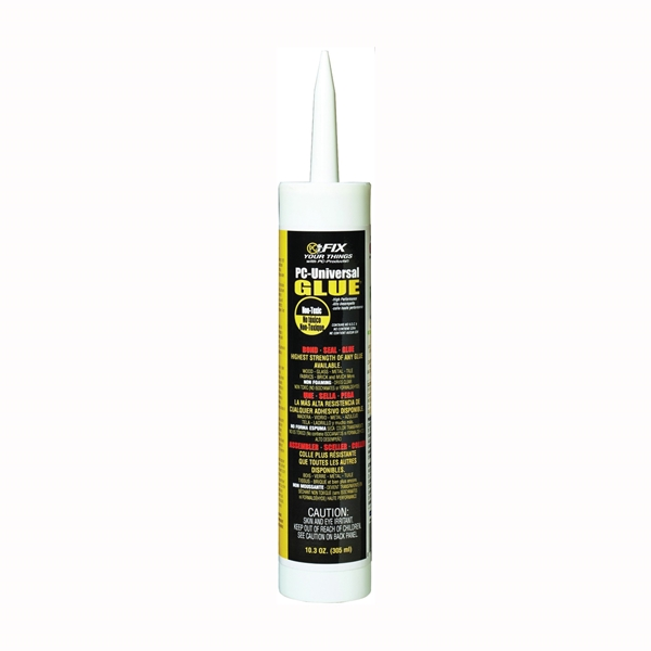 Picture of PROTECTIVE COATING PC-Universal Glue 810101 Adhesive, Milky White, 10.3 oz Package, Cartridge