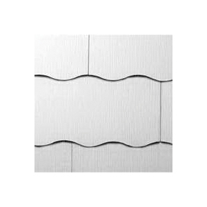 Picture of GAF Purity WeatherSide 2214000WG Shingle Siding, 12 in L, 24 in W, 11/64 in Thick, Wavy Edge, White