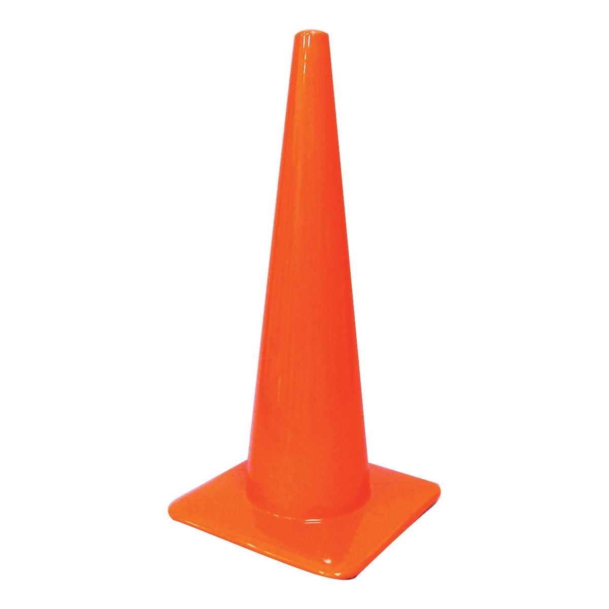 Picture of HY-KO SC-28 Traffic Safety Cone, 28 in H Cone, Vinyl Cone, Fluorescent Orange Cone
