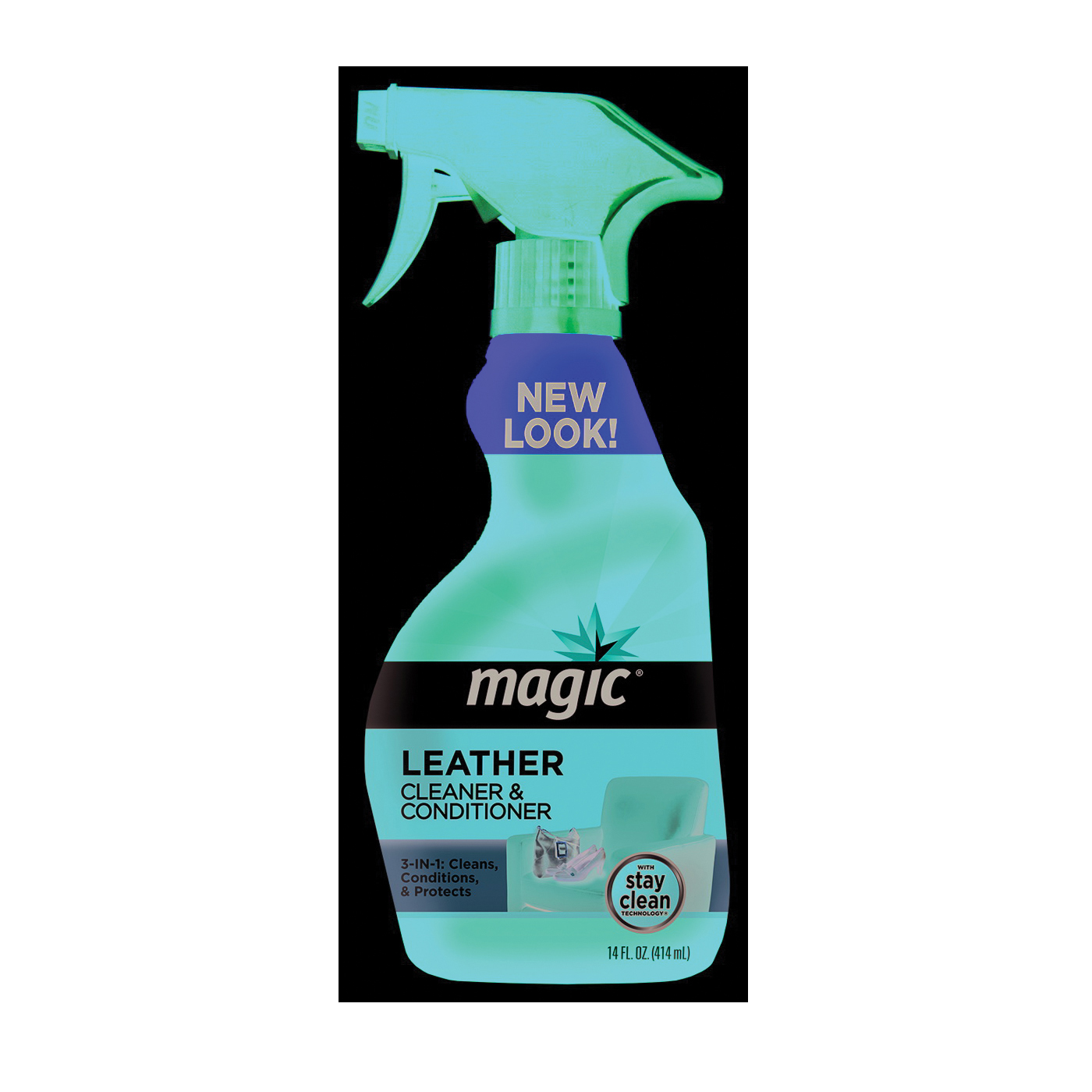 Picture of Magic 3068 Cleaner and Conditioner, 14 oz Package, Spray Bottle, Liquid, Leather, White