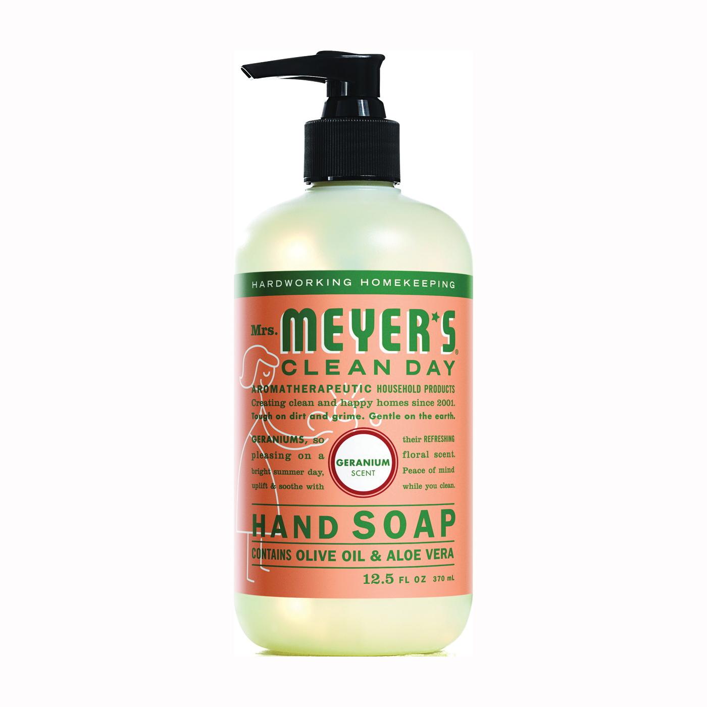 Picture of Mrs. Meyer's 13104 Hand Soap, Liquid, Geranium, 12.5 oz Package, Bottle
