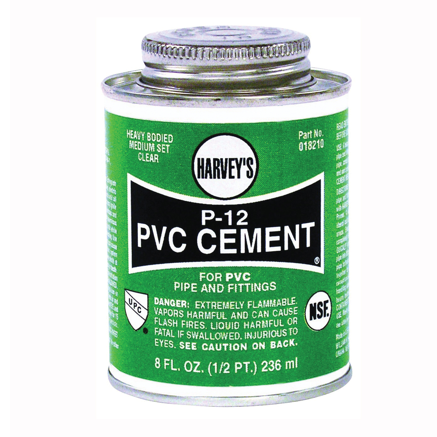 Picture of HARVEY 018210-24 Solvent Cement, 8 oz, Can, Liquid, Clear