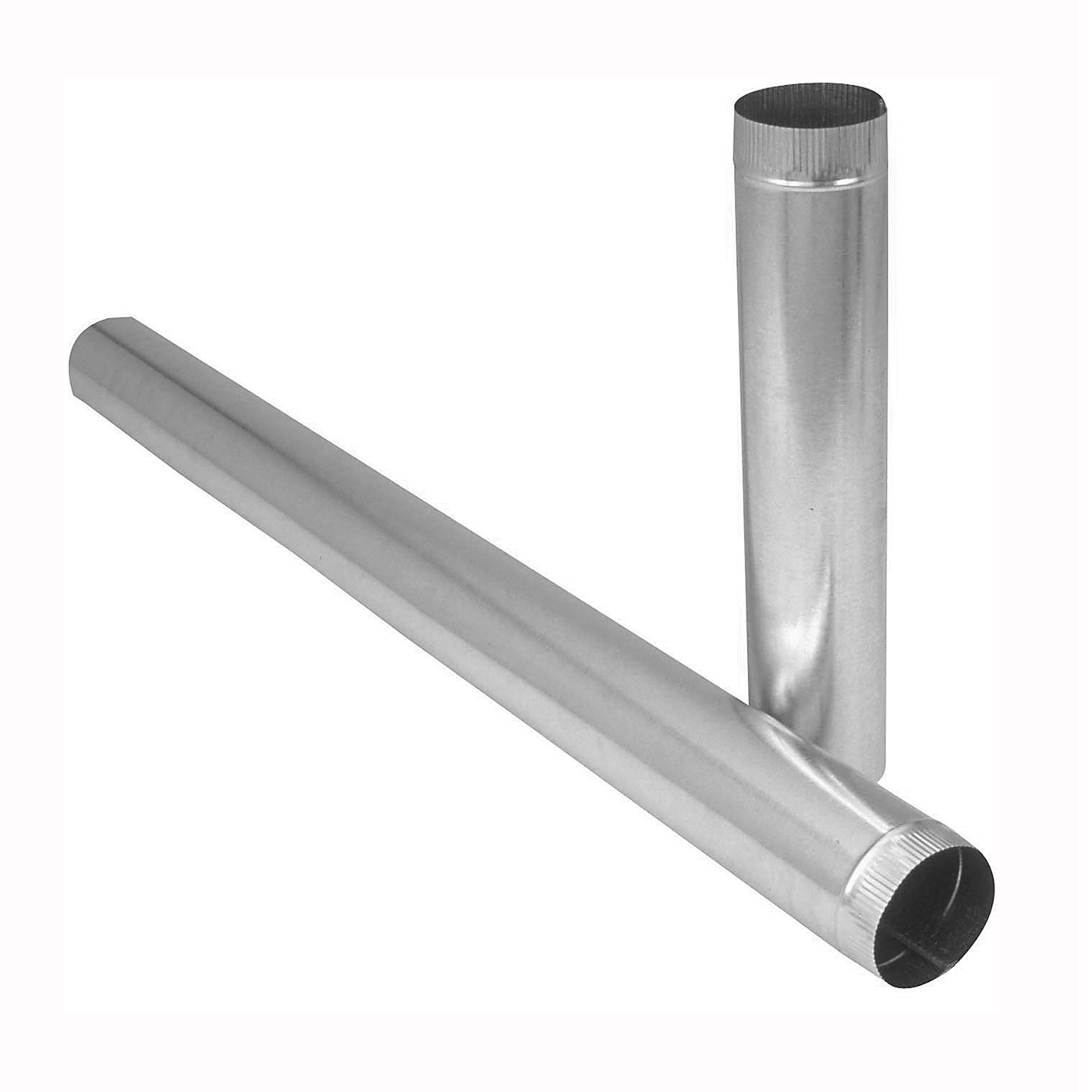 Picture of Imperial GV1336 Duct Pipe, 8 in Dia, 24 in L, 30 Gauge, Galvanized Steel, Galvanized
