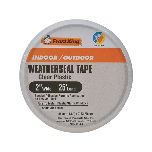 Picture of Frost King T94H Weatherseal Tape, 2 in W, 25 ft L, Plastic, Clear