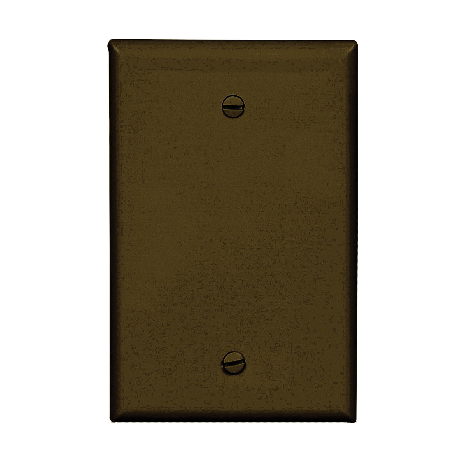 Picture of Arrow Hart PJ13B Wallplate, 3-1/2 in L, 1/4 in W, 1-Gang, Polycarbonate, Brown, High-Gloss, Screw Mounting