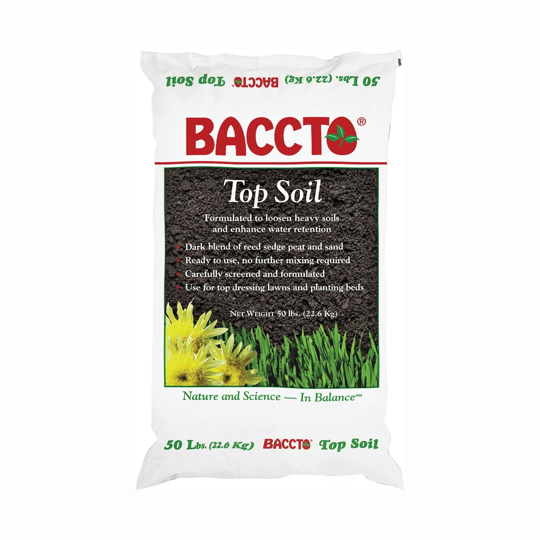 Picture of BACCTO 1550P Top Soil, Fibrous with Granular Texture, 50 lb Package, Bag