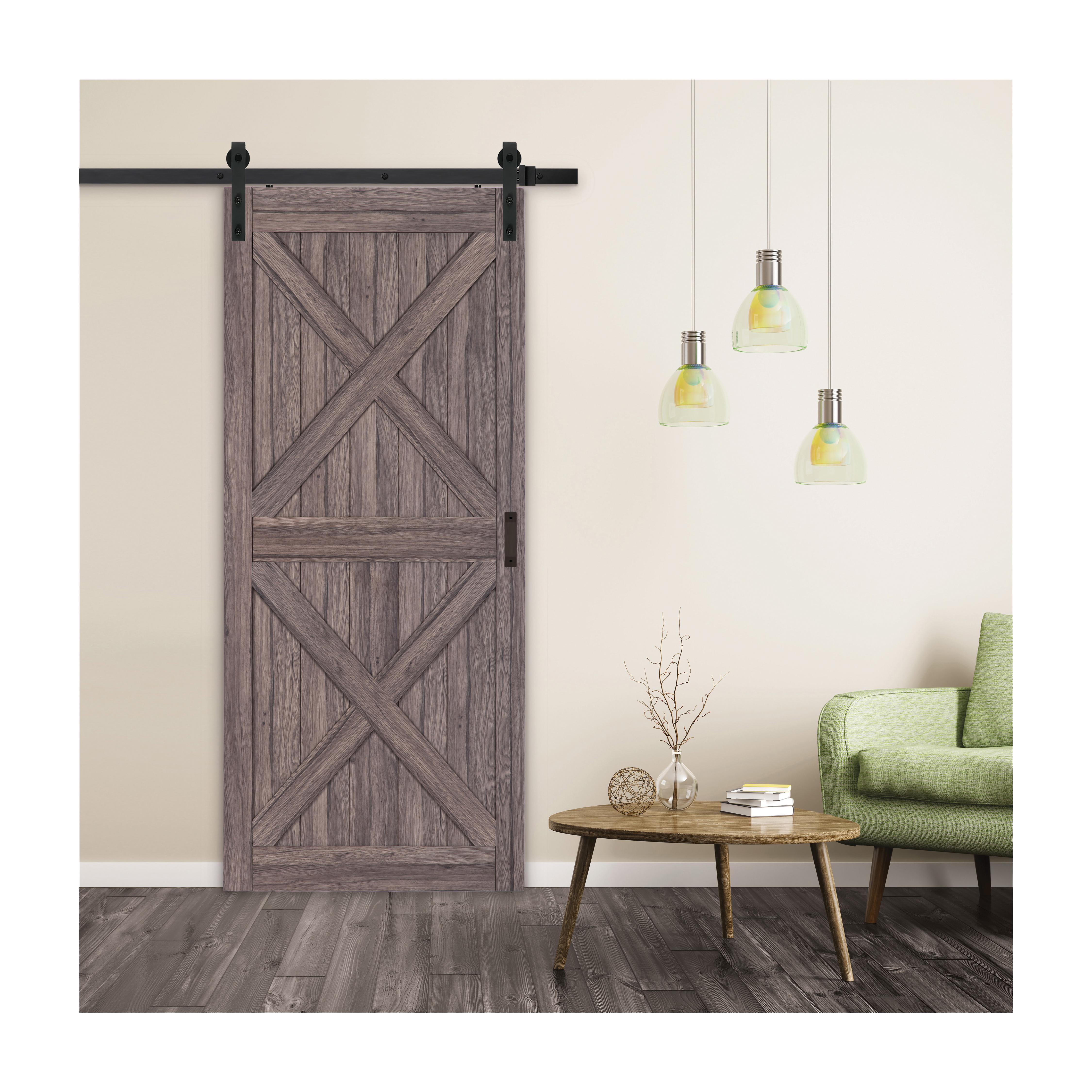 Picture of RENIN BD060W01GO1GOE360 Barn Door, 36 in W Door, 84 in H Door, Gunstock Door, Steel Track