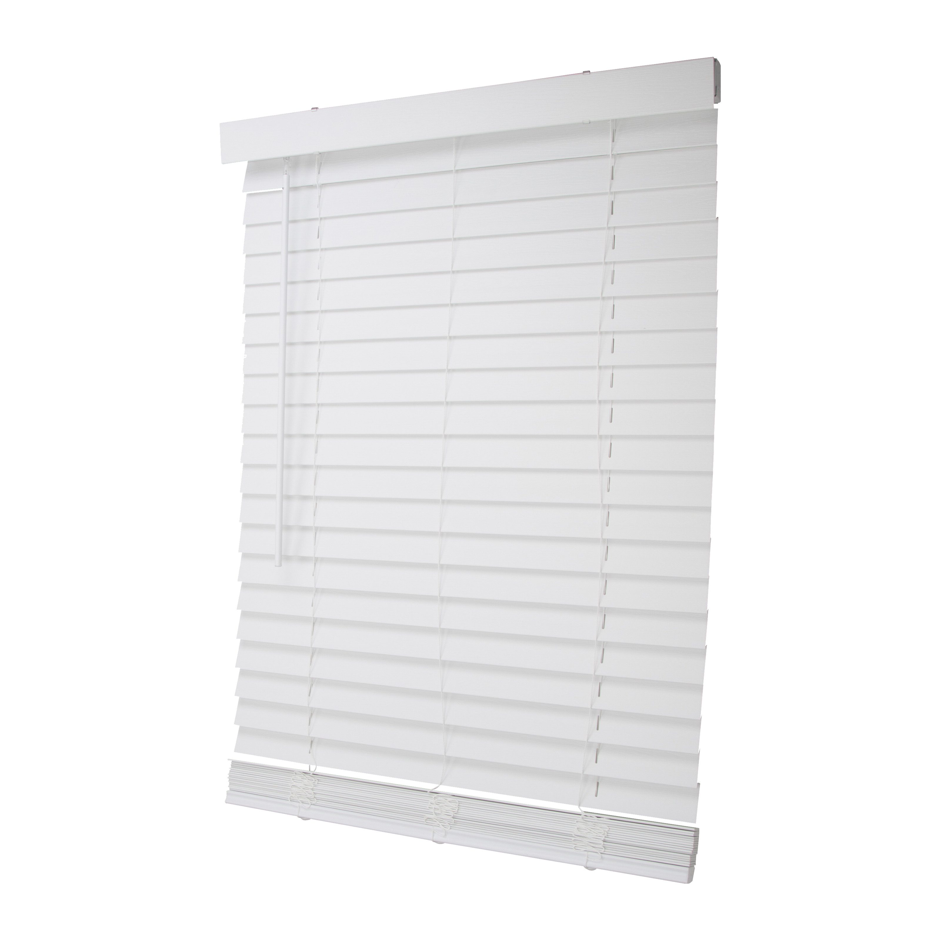 Picture of Simple Spaces FWMB-26 Cordless Mini Blind, 72 in L, 29 in W, Faux Wood, White