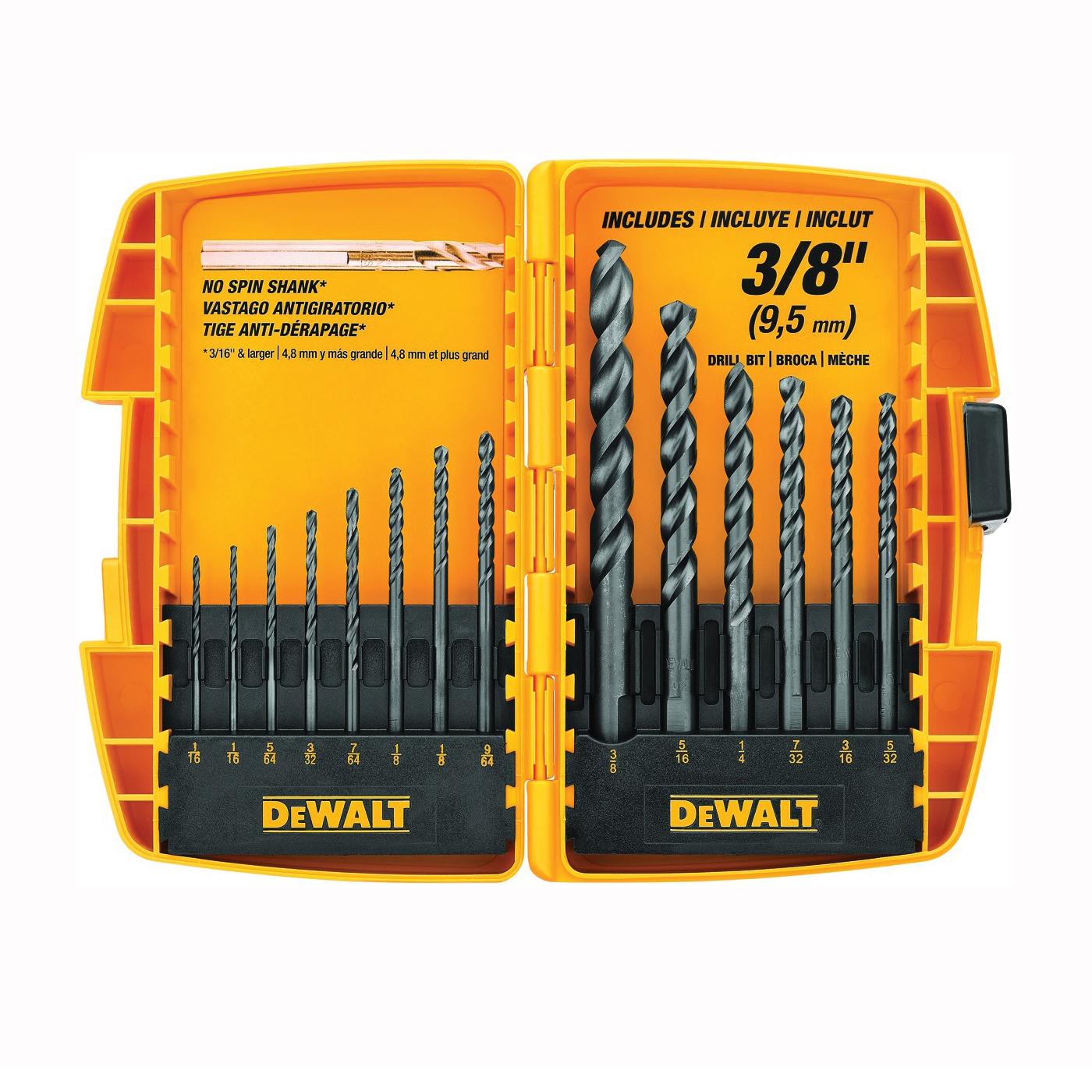 Picture of DeWALT DW1162 Drill Bit Set, 14 -Piece, Steel, Black Oxide