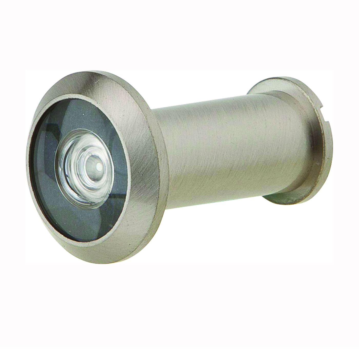 Picture of Schlage SC698P-B619 Wide Angle Viewer, 190 deg Viewing, 1-3/8 to 2-1/8 in Thick Door, Solid Brass, Satin