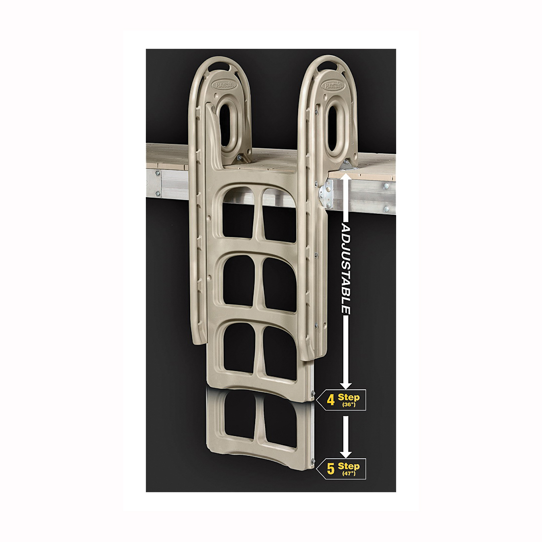 Picture of PLAYSTAR PS 1605 Dock Ladder, 350 lb, 5-Step, Plastic