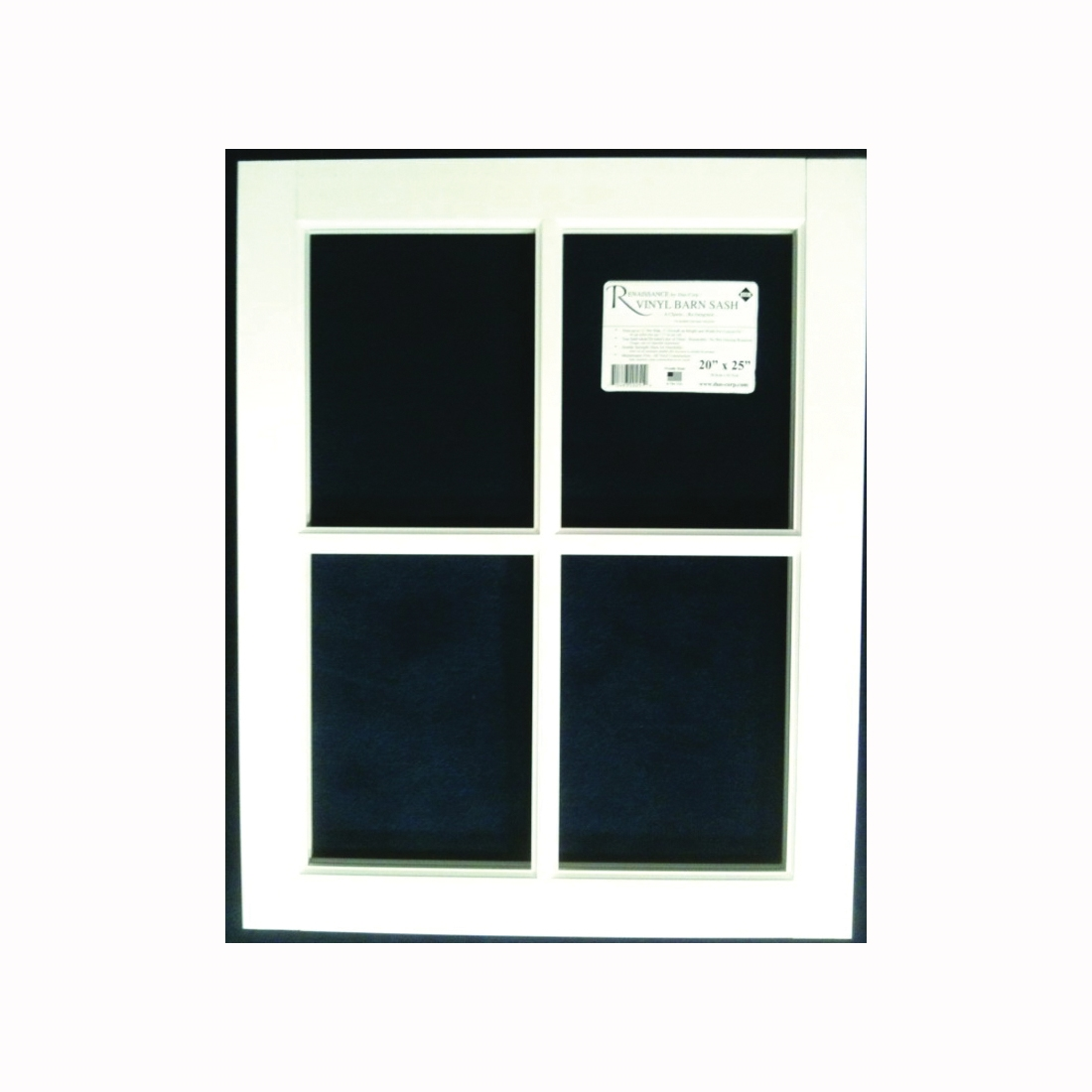 Picture of Duo-Corp Renaissance 2229BS Barn Sash Window, 22 in OAW, 29 in OAH, Vinyl Frame