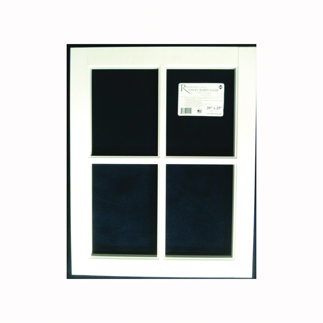 Picture of Duo-Corp Renaissance 2429BS Barn Sash Window, 24 in OAW, 29 in OAH, Vinyl Frame