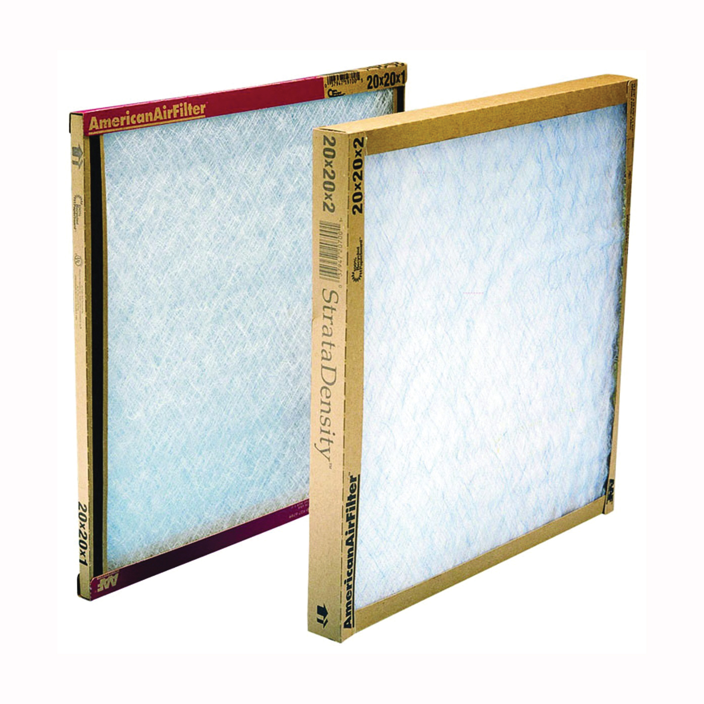 Picture of AAF 120202-1 Panel Filter, 20 in L, 20 in W, Chipboard Frame