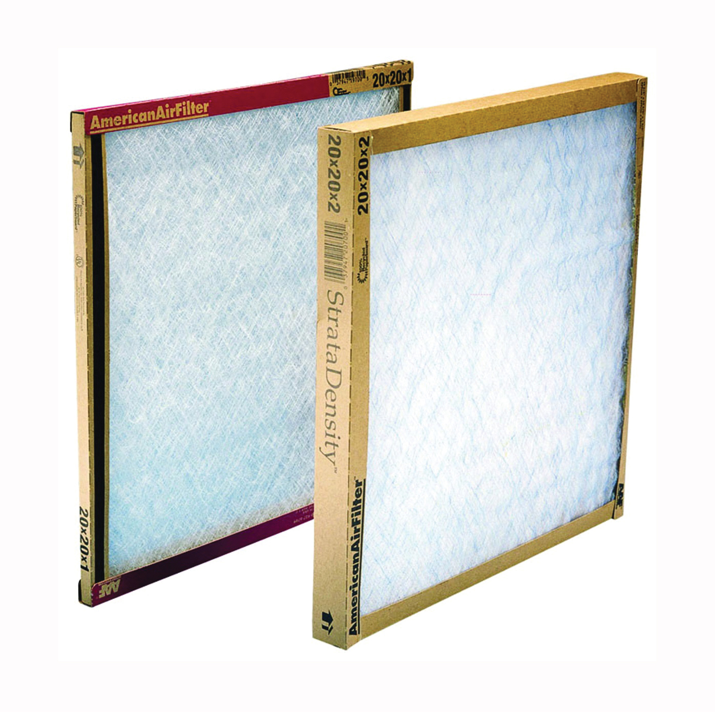 Picture of AAF 116202-1 Panel Filter, 20 in L, 16 in W, Chipboard Frame