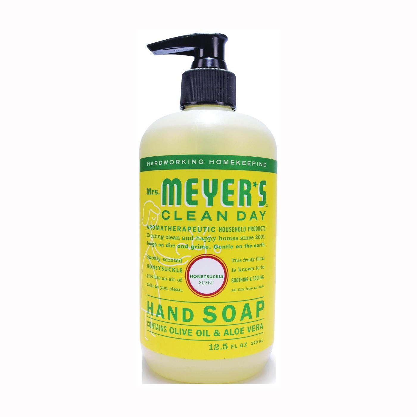 Picture of Mrs. Meyer's 17425 Hand Soap, Liquid, Honeysuckle, 12.5 oz Package, Bottle