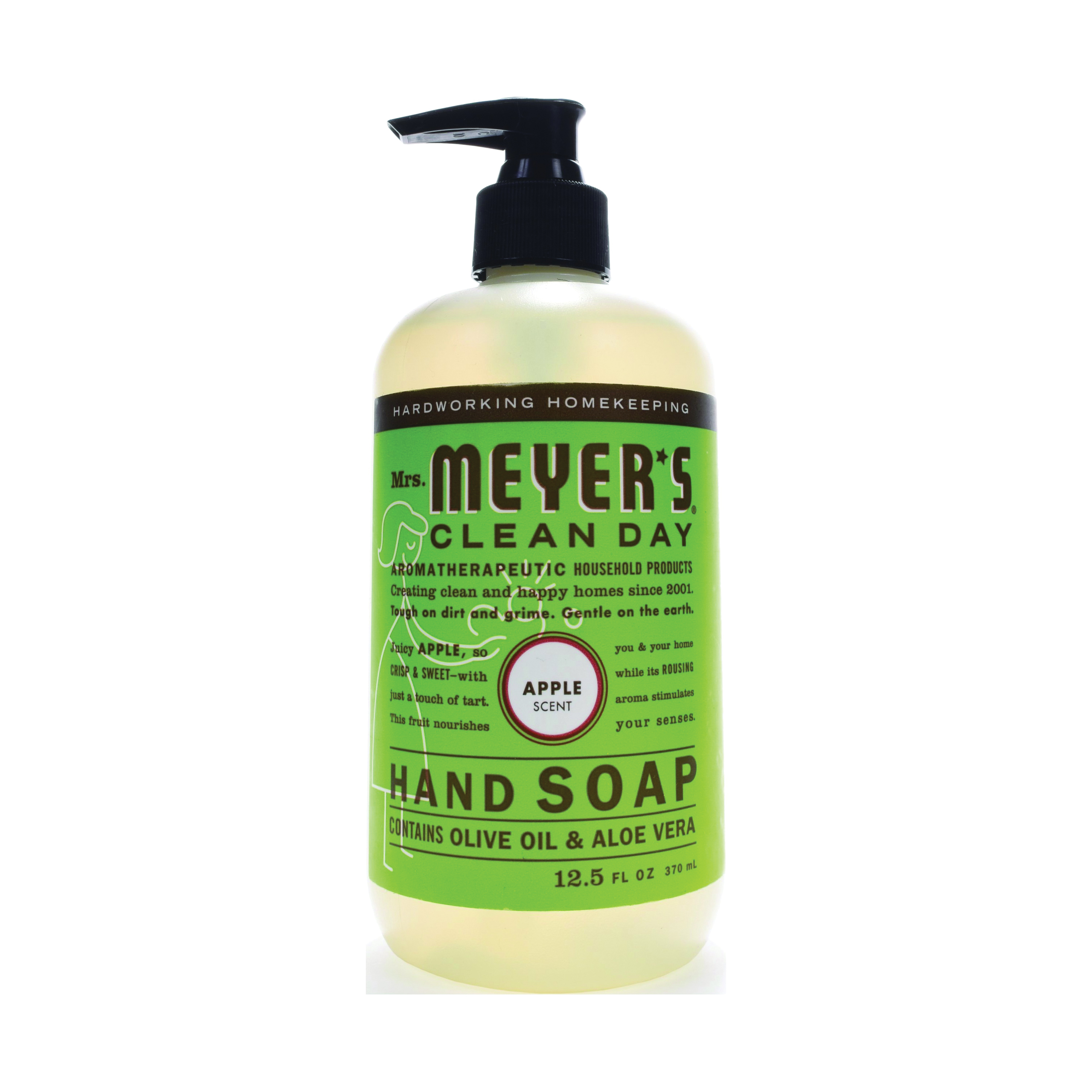 Picture of Mrs. Meyer's 17427 Hand Soap, Liquid, Colorless, Apple, 12.5 oz Package, Bottle