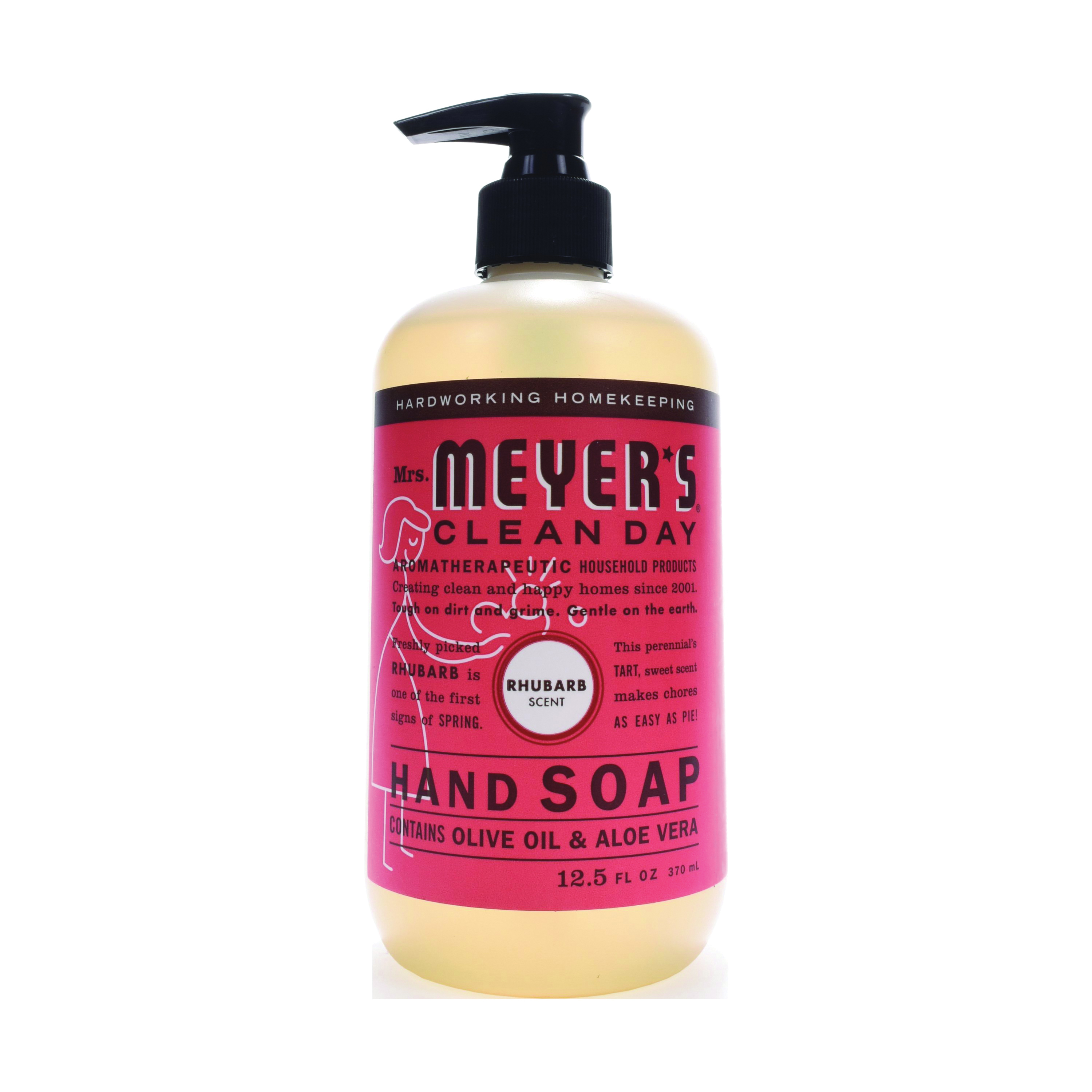 Picture of Mrs. Meyer's 17462 Hand Soap, Liquid, Rhubarb, 12.5 oz Package, Bottle