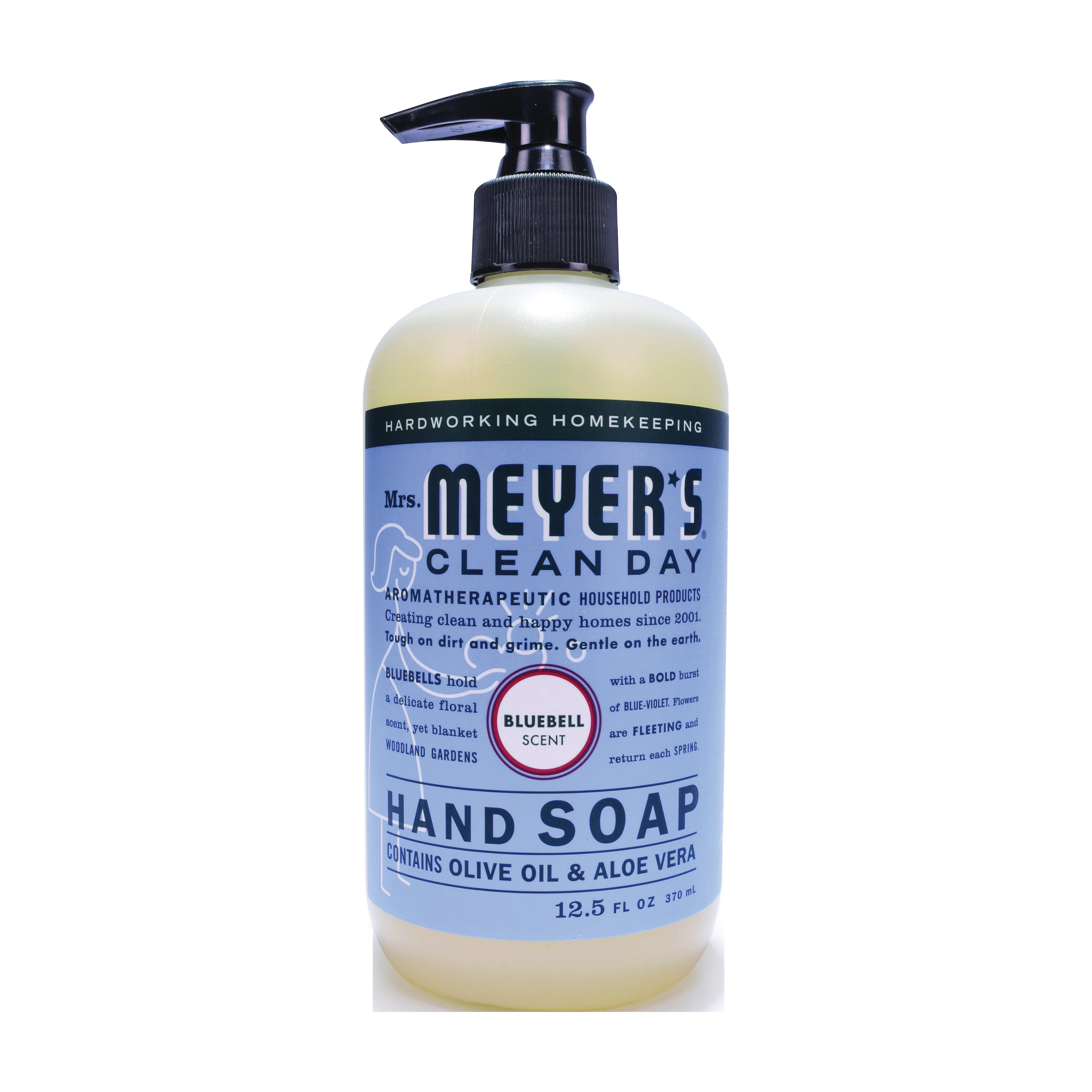 Picture of Mrs. Meyer's 17484 Hand Soap, Liquid, Bluebell, 12.5 oz Package, Bottle