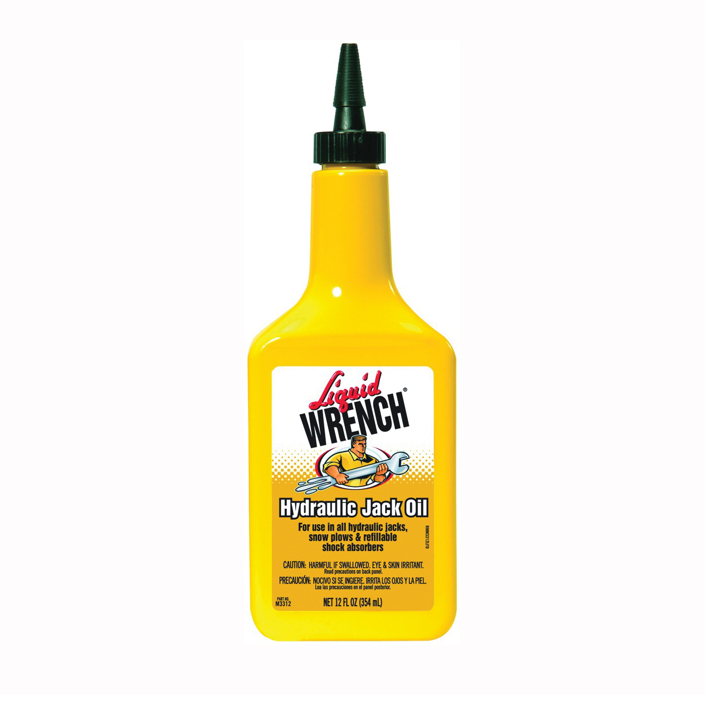 Picture of Liquid WRENCH M3312 Hydraulic Jack Oil, 10W, 12 fl-oz Package, Bottle
