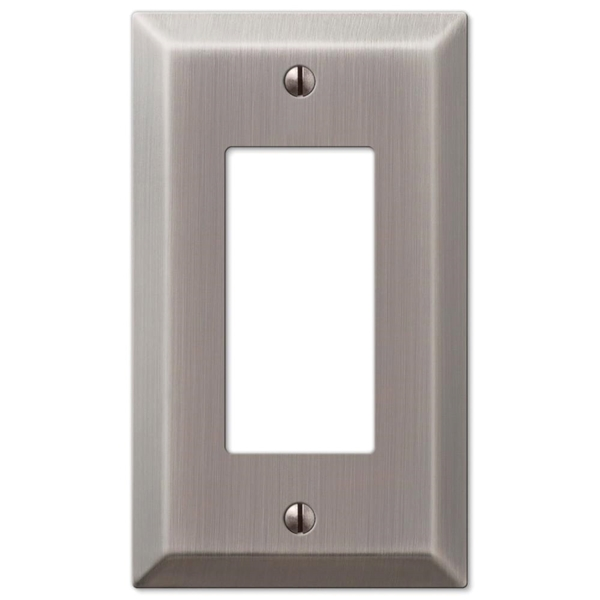 Picture of Amerelle Century 163RAN Wallplate, 4-15/16 in L, 2-7/8 in W, 1-Gang, Steel, Antique Nickel