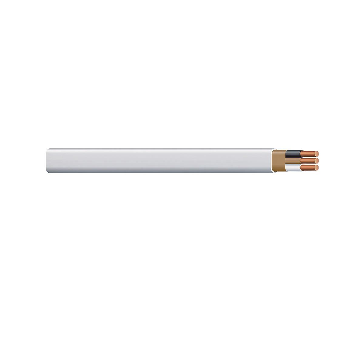 Picture of Romex 1051093 Building Wire, 14 AWG Wire, 2-Conductor, Copper Conductor, PVC Insulation, Nylon Sheath, 250 ft L