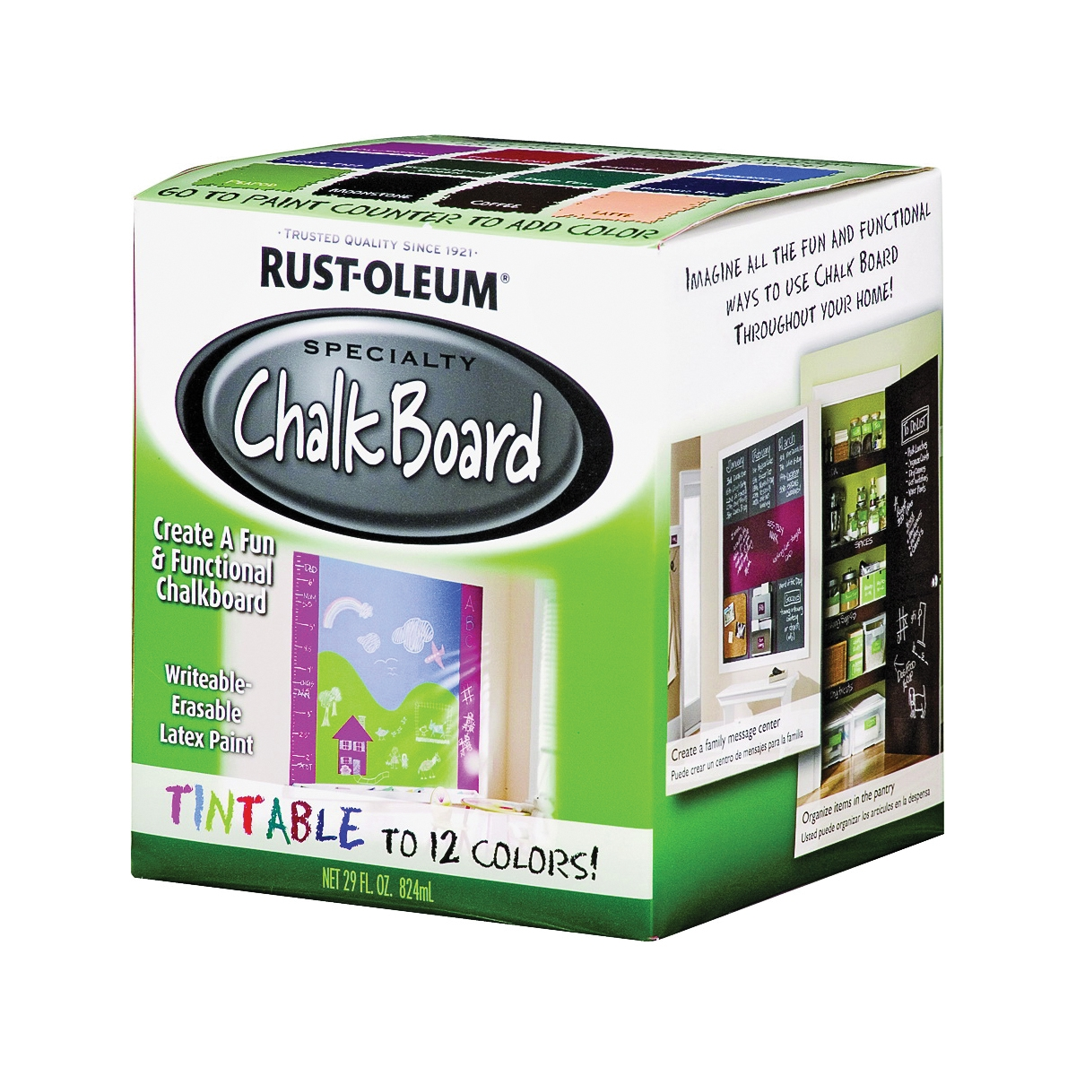 Picture of RUST-OLEUM SPECIALTY 243783 Chalkboard Paint Tint Base, Mild Ammonia, Tint Base, 1 qt, Can