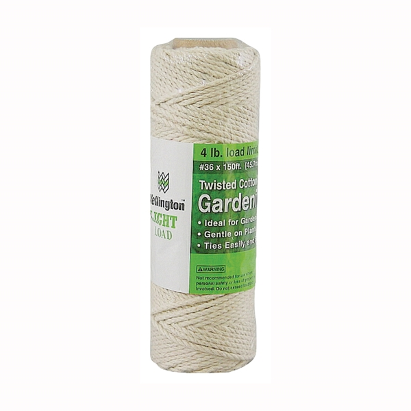 Picture of Wellington 12605 Garden Twine, #12 Dia, 150 ft L, 4 lb Working Load, Cotton, Natural