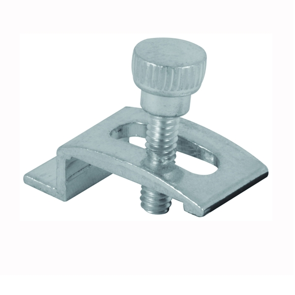 Picture of Make-2-Fit PL 7939 Storm Door Panel Clip with Screw, Aluminum, Mill, For: Self-Locking Storm Doors