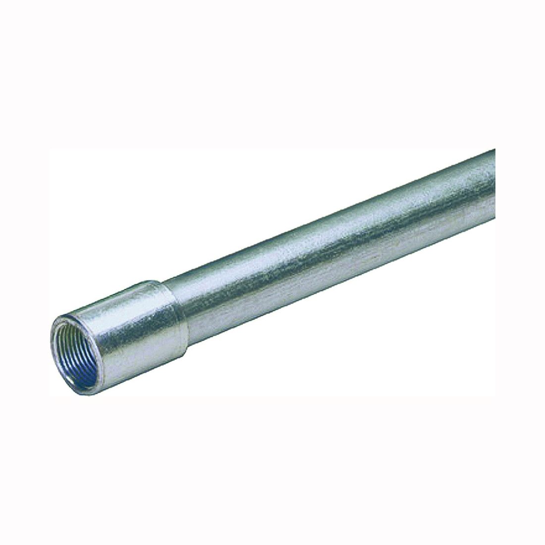 Picture of Allied Tube & Conduit 103051 Rigid Conduit, 0.84 in OD, 10 ft L, 1/2 in Trade, Galvanized Steel