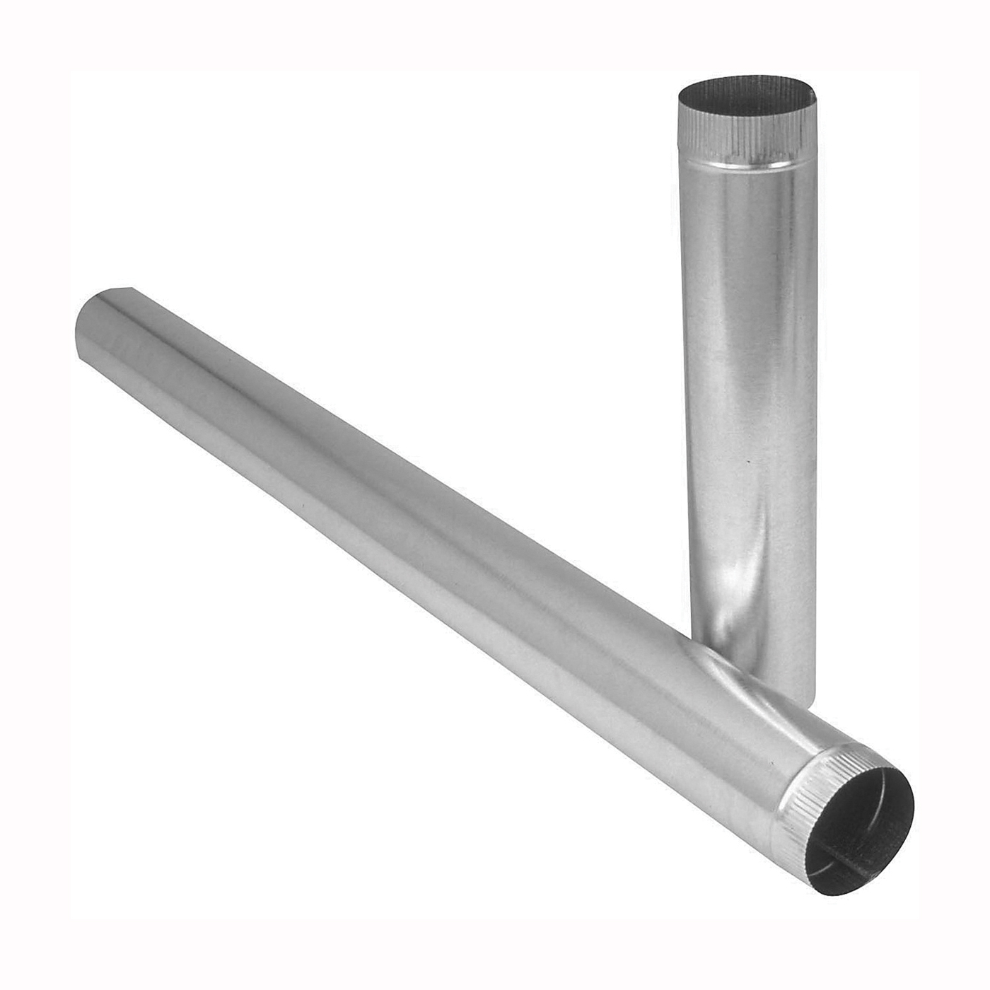 Picture of Imperial GV1335 Duct Pipe, 7 in Dia, 24 in L, 30 Gauge, Galvanized Steel, Galvanized