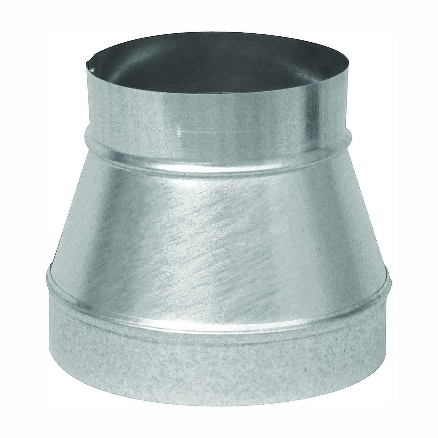 Picture of Imperial GV0790 Stove Pipe Reducer, 8 x 6 in, 26 ga Thick Wall, Black, Galvanized