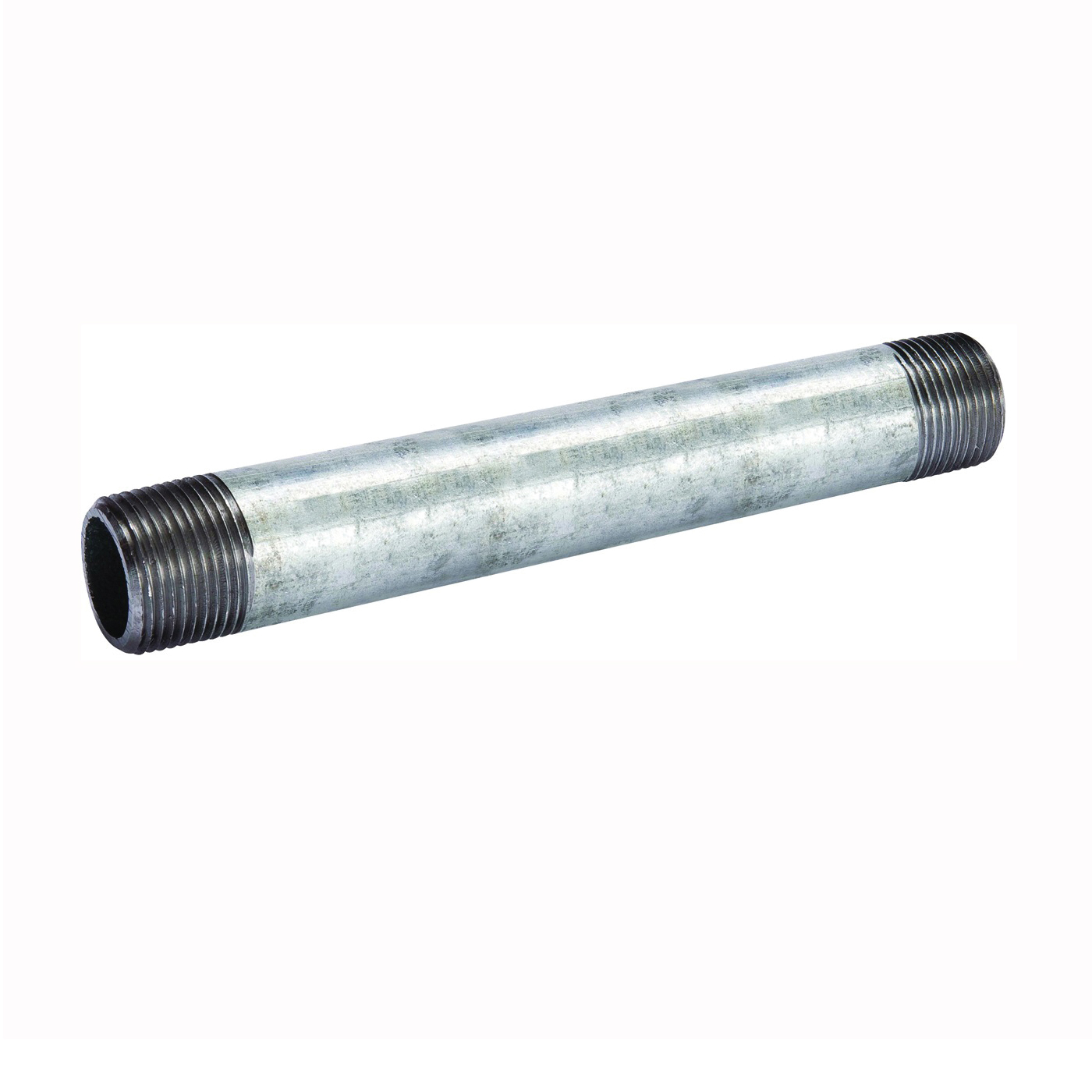 Picture of B & K 570-080BC Pipe Nipple, 3 in, Threaded, Galvanized Steel, SCH 40 Schedule, 8 in L
