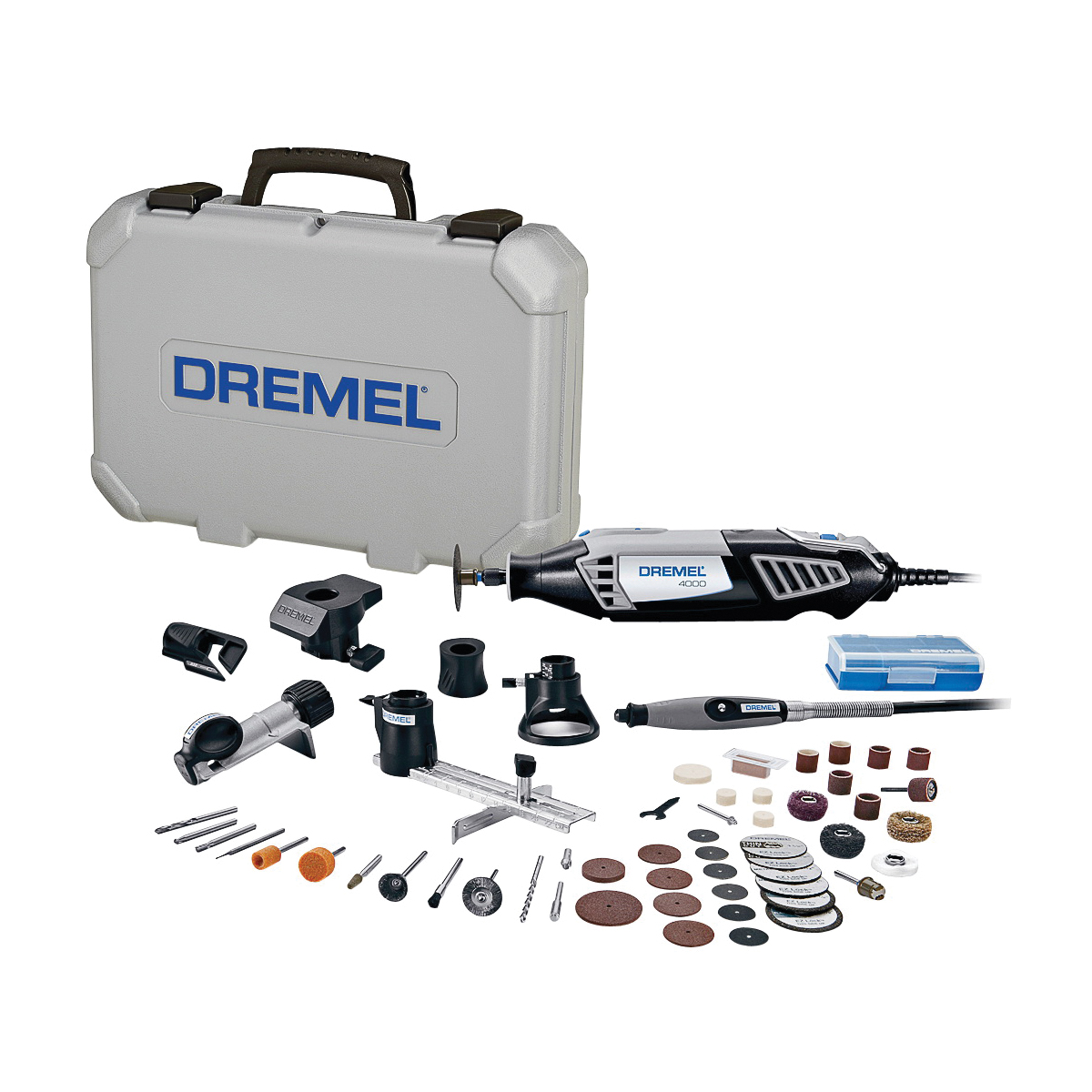 Picture of DREMEL 4000-6/50 Rotary Tool Kit, 120 V, 1.6 A, 1/8 in Chuck, Keyed Chuck, 5000 to 35,000 rpm Speed