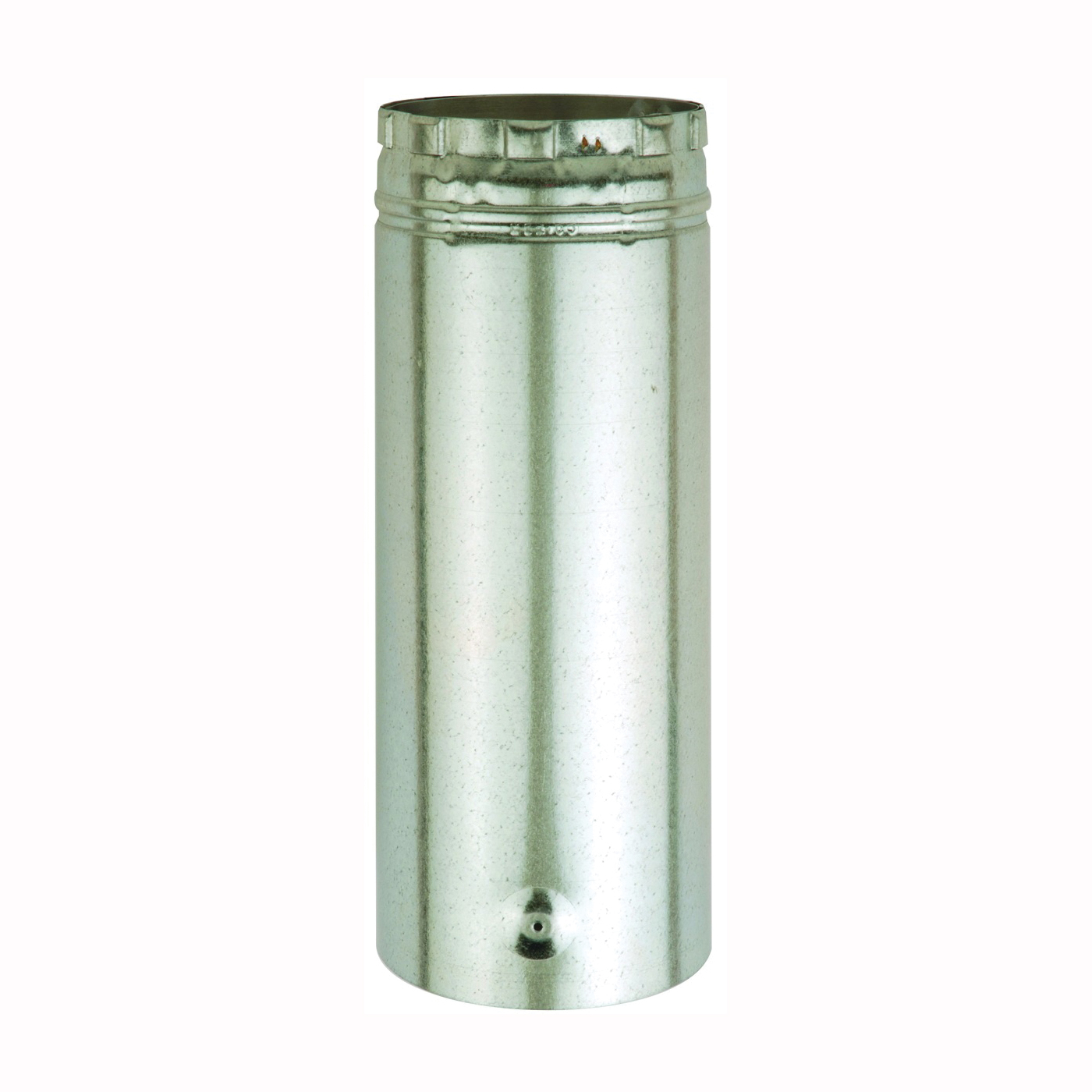 Picture of AmeriVent 3E12A Type B Gas Vent Pipe, 3 in OD, 12 in L, Aluminum/Galvanized Steel, Brass